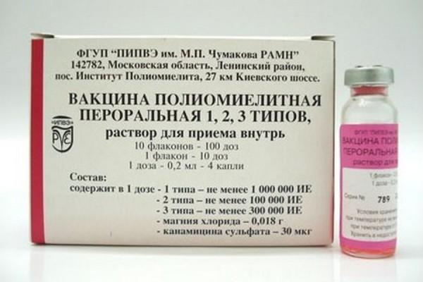 Прививка против полиомиелита после