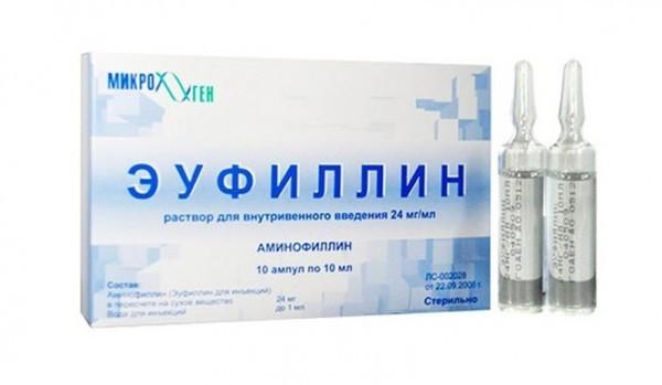 Зуфиллин для сосудов мозга, капельница