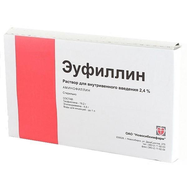 Эуфиллин: инструкция по применению (в таблетках, ампулах).