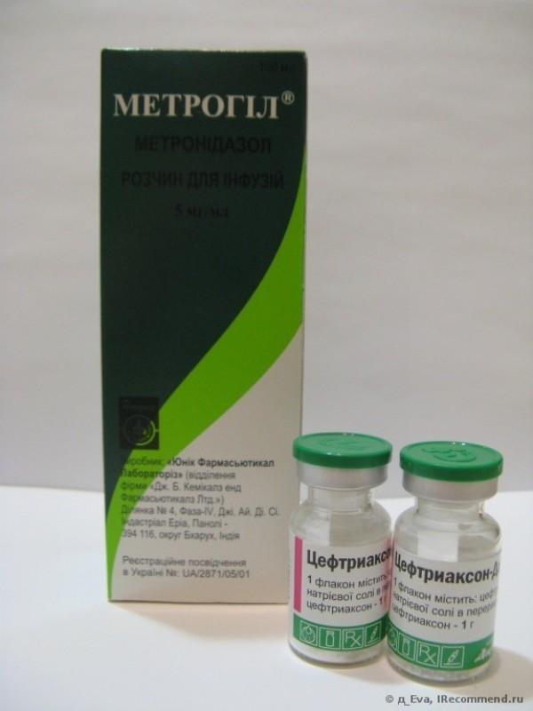 Метрогил для внутривенного введения