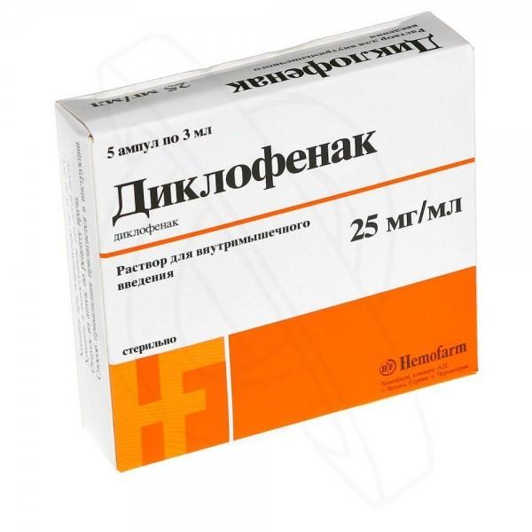 Диклофенак от боли в спине